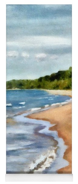 Peaceful Beach At Pier Cove Ll Yoga Mat