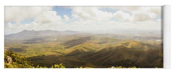 Peaceful Countryside Panorama Yoga Mat