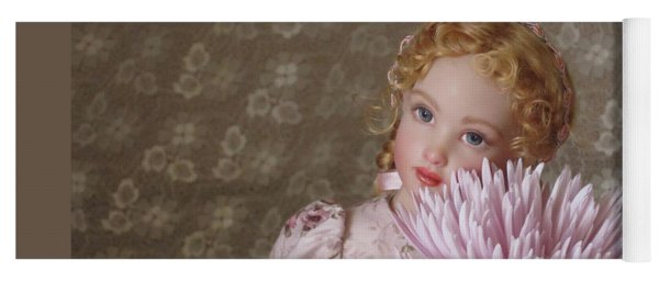 Yoga Mat featuring the photograph Peaceful Kish Doll by Nancy Lee Moran