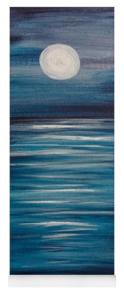 Peaceful Moon At Sea Yoga Mat