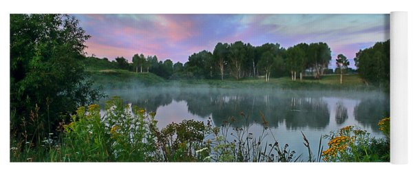 Peaceful Sunrise At Lake. Altai Yoga Mat
