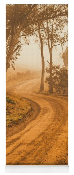 Peaceful Tasmania Country Road Yoga Mat