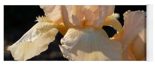 Peach Bearded Iris Yoga Mat