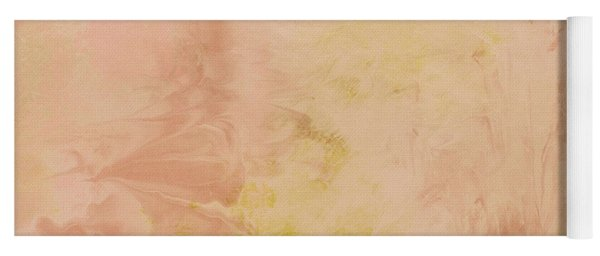 Peach Harvest- Abstract Art By Linda Woods. Yoga Mat