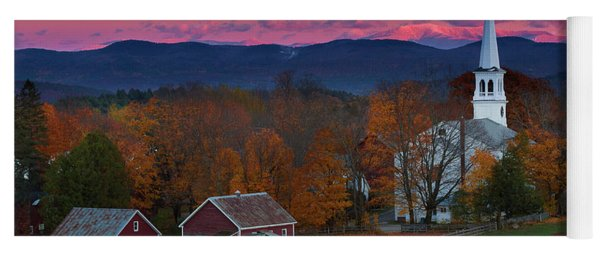 Peacham Village Fall Evening Yoga Mat