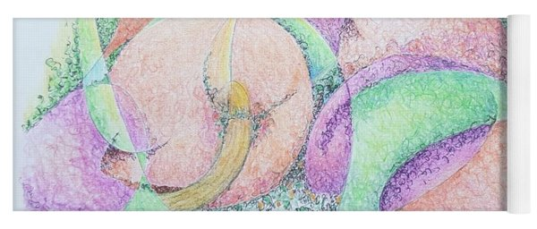 Peaches And Plums Yoga Mat