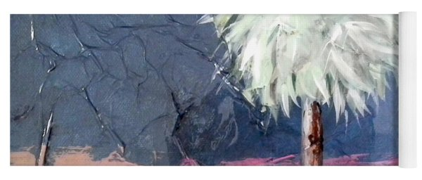 Peachy Horizons Palm Tree Yoga Mat