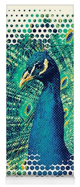 Peacock Art Yoga Mat