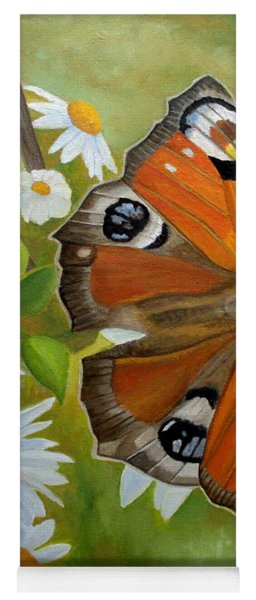 Peacock Butterfly Yoga Mat