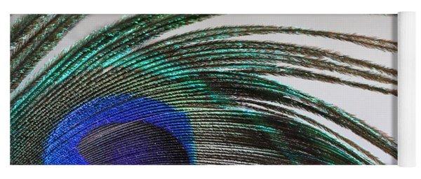 Peacock Feather Art Yoga Mat