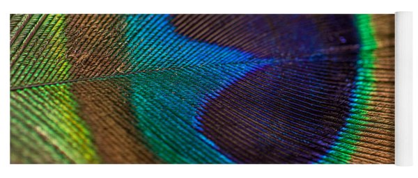 Peacock Feather Macro Detail Yoga Mat