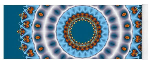 Peacock Fractal Mandala I Yoga Mat