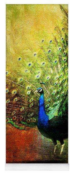 Peacock In Full Color Yoga Mat
