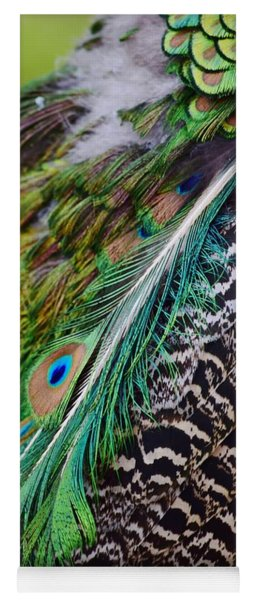 Yoga Mat featuring the photograph Peacock by Nicole Lloyd