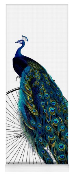 Peacock On A Bicycle, Home Decor Yoga Mat