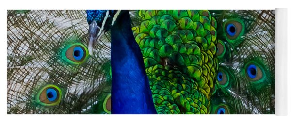 Peacock Portrait Yoga Mat