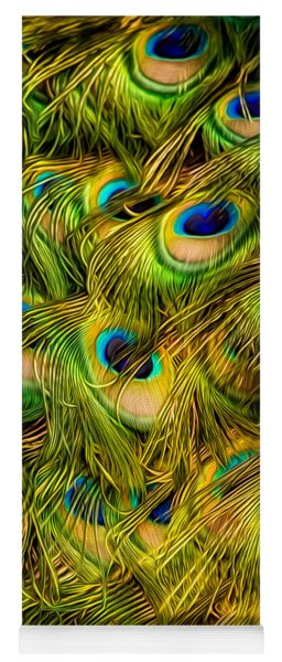 Peacock Tails Yoga Mat