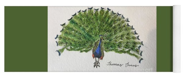 Peacock Yoga Mat