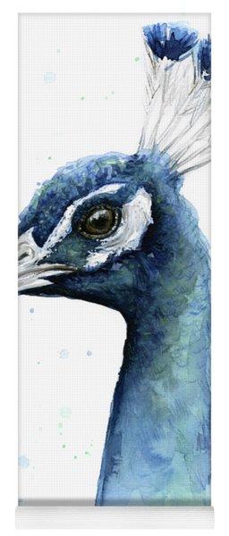 Peacock Watercolor Yoga Mat