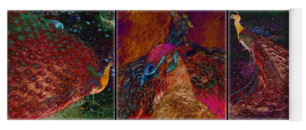 Peacocks Yoga Mat