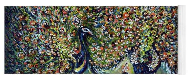 Peacocks - Impressionist  Yoga Mat