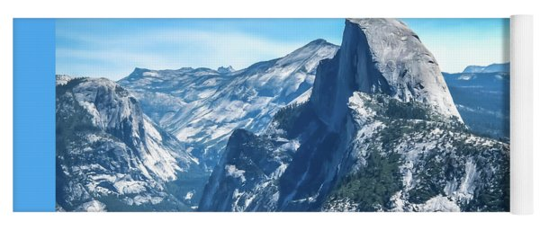 Yoga Mat featuring the photograph Peak Of Half Dome- by JD Mims