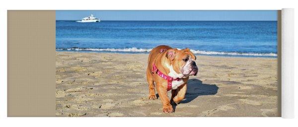 Peanut On The Beach Yoga Mat