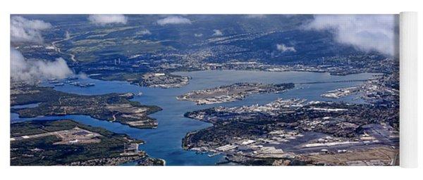 Pearl Harbor Aerial View Yoga Mat