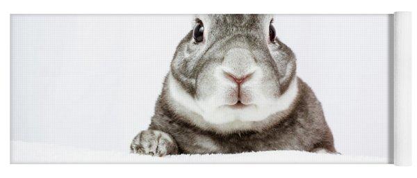 Peeking Bunny Yoga Mat