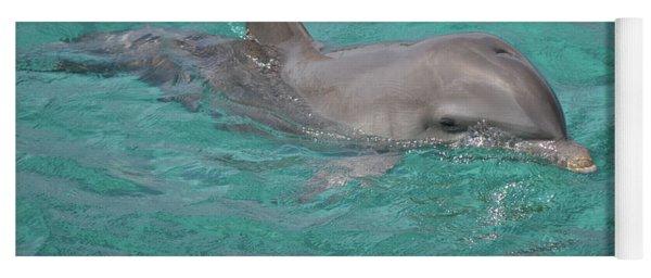 Peeking Dolphin Yoga Mat