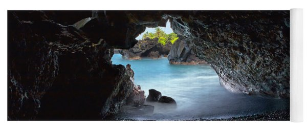 Yoga Mat featuring the photograph Peeking Through The Lava Tube by Susan Rissi Tregoning