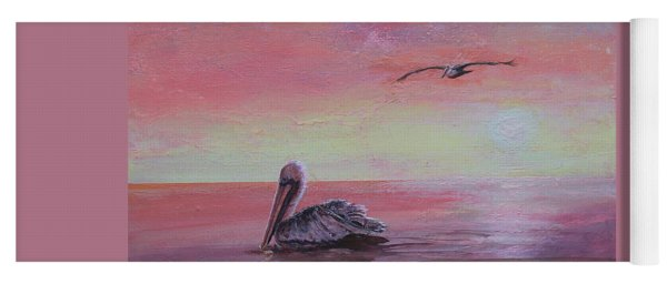 Yoga Mat featuring the painting Pelican Bay by Ruth Kamenev