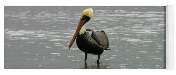 Pelican In The Water Yoga Mat