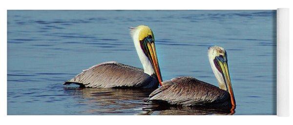 Pelicans 2 Together Yoga Mat