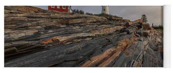 Pemaquid Point Cliffs Yoga Mat