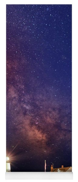 Pemaquid Point Lighthouse And The Milky Way Yoga Mat