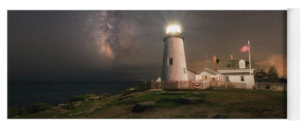 Pemaquid Point Lighthouse Milky Way Yoga Mat