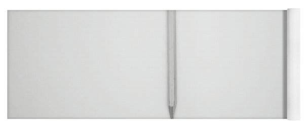 Pencil On A Blank Page Yoga Mat
