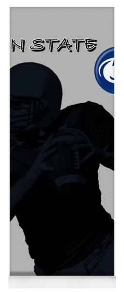 Yoga Mat featuring the digital art Penn State Football by David Dehner