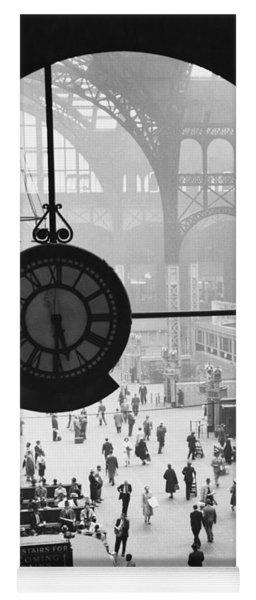 Penn Station Clock Yoga Mat