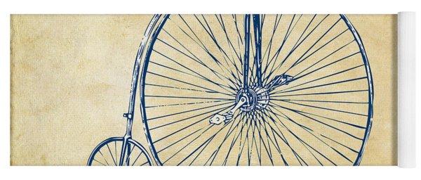 Penny-farthing 1867 High Wheeler Bicycle Vintage Yoga Mat