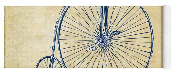 Yoga Mat featuring the digital art Penny-farthing 1867 High Wheeler Bicycle Vintage by Nikki Marie Smith