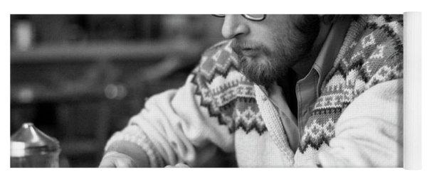 Pensive Brown Student, Louis Restaurant, 1976 Yoga Mat