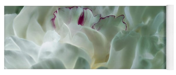 Yoga Mat featuring the photograph Peony Flower Energy by Beth Sawickie