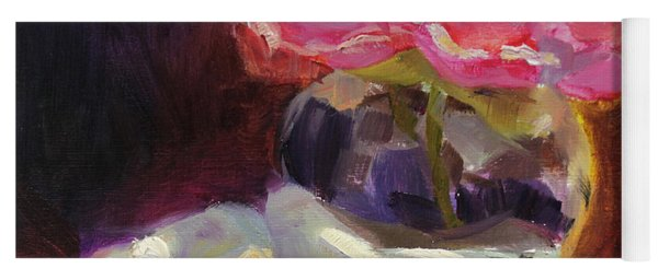 Peony Glow  Colorful And Edgy Still Life Yoga Mat