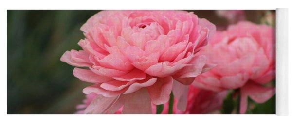 Peony Pink Ranunculus Closeup Yoga Mat