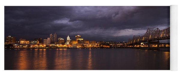 Yoga Mat featuring the photograph Peoria Dramatic Skyline by Andrea Silies