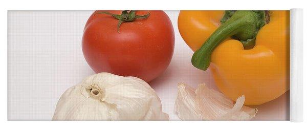 Pepper, Tomato And Garlic Yoga Mat