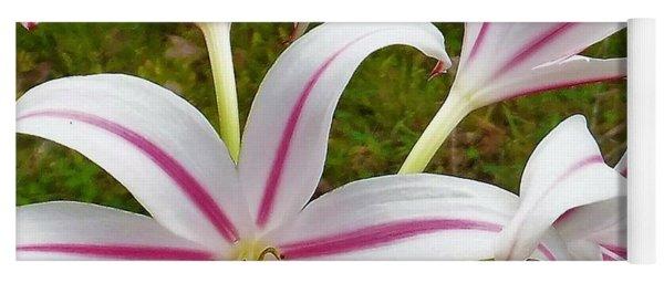 Peppermint Lilies Yoga Mat