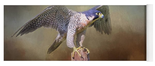 Peregrine Falcon Taking Flight Yoga Mat